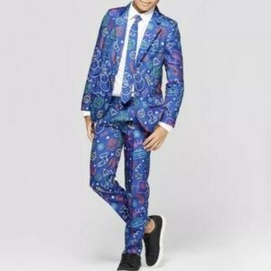 New Blue Ugly Christmas Suit Size S 4 5